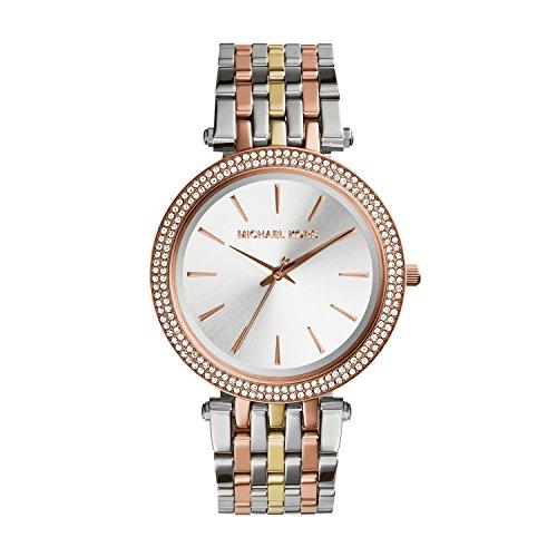 Michael Kors Women's Darci Tri-Tone Watch - Online Micheal Kors