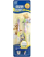 Oral-B Kids Toothbrush, Extra Soft, Stages 1 (4-24 mths), 2 count