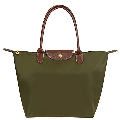 Big Shoulder Brand Women's Bag Mynos Beach Hobos Army Orange Handbag Fold Waterproof Green Tote Zipper Stylish 7qF4dw0cx4
