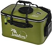LEADALLWAY Foldable Fishing Bucket, EVA Functional Fish Live Bait Bucket, Fish Live Lures Bucket Outdoor and F