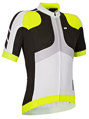 GSG Monviso - Men's Cycling T-Shirt - With Zip - Quickdry Jersey - Yellow - XXL