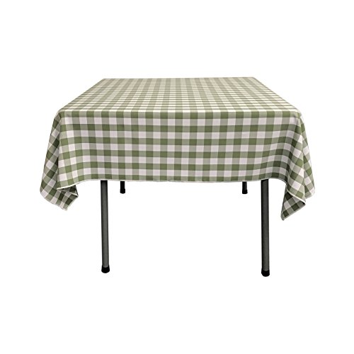 LA Linen Gingham Checkered Square Tablecloth 52