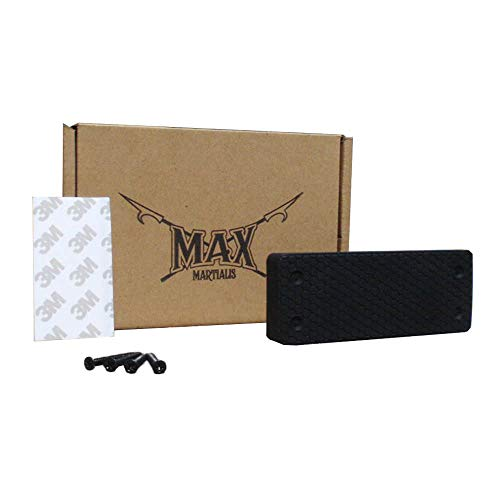 Magnetic Gun Mount by Max Martialis - Non-marring Rubber Mount for Car, Truck, Desk, Bedside, or Anywhere - Mounts with Screws or 3M Tape - Compatible with Veridian Lasers and (Large Display Cabinet)