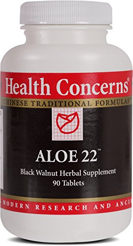 Health Concerns – Aloe 22 – Black Walnut Herbal Supplement – 90 Tablets
