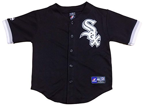 (Chicago White Sox Blank Black Kids Authentic Alternate Jersey (Kids 7) )