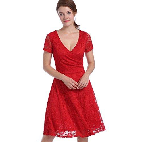 Kleid knielang v ausschnitt