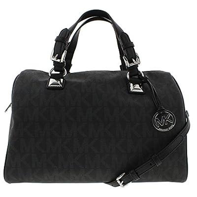 MICHAEL Michael Kors Womens Grayson Faux Leather Convertible Satchel Handbag
