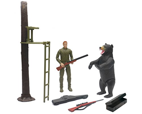 New Ray Wildlife Hunter with Tree Stand and Bear ()