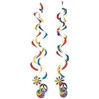 Colgantes de lujo de Conversión creativa Tie Dye 2 Count Deluxe que cuelgan la decoración del partido