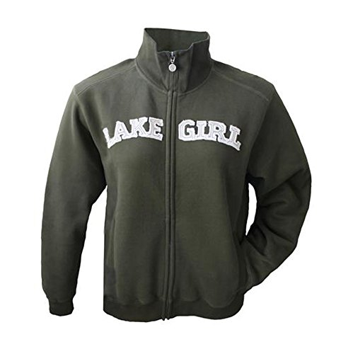 LAKEGIRL Full Zip Classic Track Jacket Sweatshirt (Large, Forest Night) (Lake Girl)