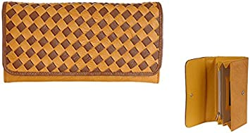 AB Collezioni Curry Ladies Womens Designer Wallet Purse 19 x 19 x 3cm Yellow