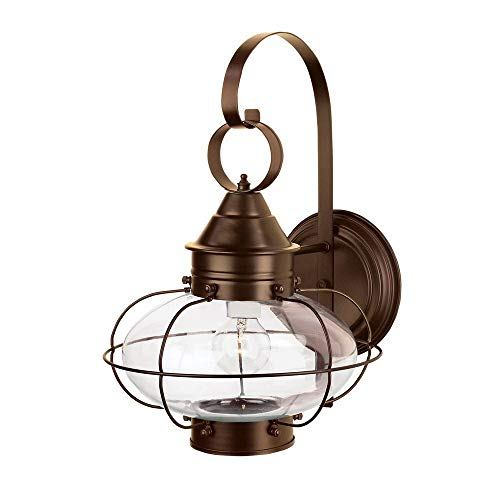 - Norwell Lighting 1324-BR-CL Cottage Onion - One Light Outdoor Medium Wall Lantern, Glass Options: Clear Glass, Choose Finish: BR: Bronze