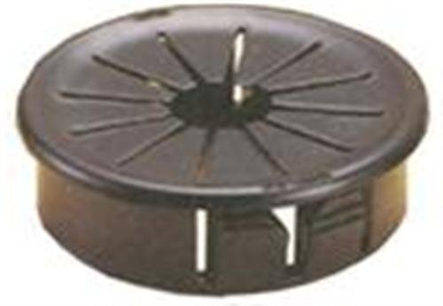 .81-Inch 10-Pack Morris 22346 Snap Bushings with Shutters Black