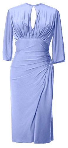 Formal Sleeve Himmelblau Half Cocktail Jersey MACloth Elegant Party Knee Length Gown Dress ZUqFw