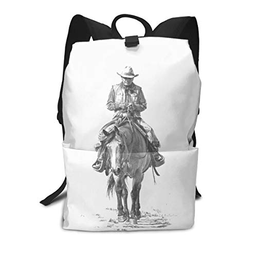 - Unisex Frontier Cowboy 15.7 Inch Casual School Backpack for College/Travel