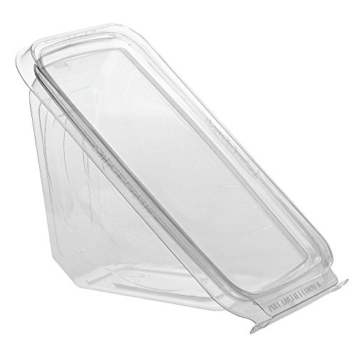 Safe T Fresh Tamper Evident Plastic Sandwich Wedge Hinged Container (72)