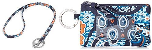 Vera Bradley Zip Id Case and Lanyard in