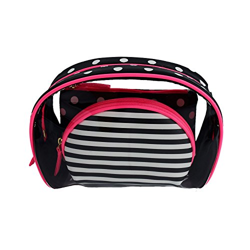 ESA Makeup Bags Trval Cosmetic Case Organizer Pouch Set of 3