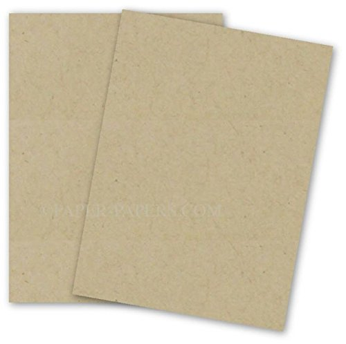 Fiber 70 Lb Text Paper - Oatmeal Speckle Fiber 8-1/2-x-11 Lightweight Printer friendly Paper 50-pk - 104 GSM (28/70lb Text) PaperPapers Letter size Everyday Paper - Professionals, Designers, Crafters and DIY Projects