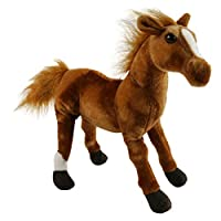 Houwsbaby Wildlife Horse Realistic Foal Stuffed Animal Lifelike Pony Plush Toy Great Gift for Kids Friends, 12