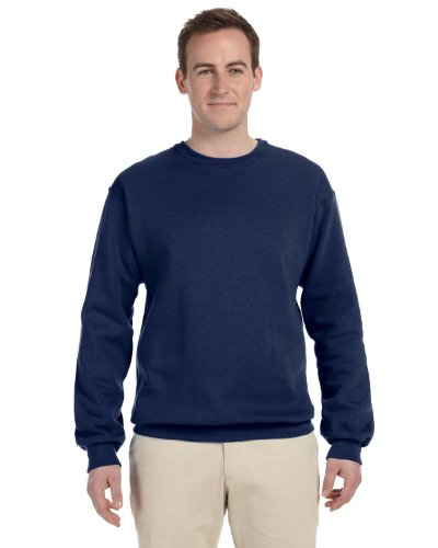 Jerzees Mens 562M Nublend Crew Neck Sweatshirt  J Navy  2Xl