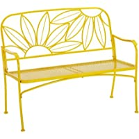 Mainstays Hello Sunny Outdoor Patio Bench (Yellow)