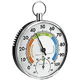 Thermo hygromètre Analogique | Double fonction | Instrument de précision | Intérieur Maison Extérieur Humidité by CASCACAVELLE