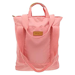 Amber & Ash Convertible Tote – Lightweight - Durable - Travel Friendly - Orchid Pink