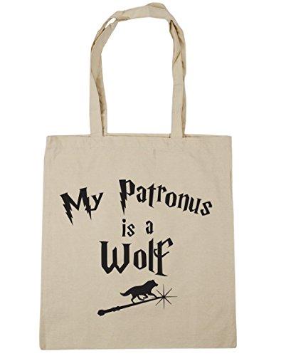 HippoWarehouse My Patronus Ist Ein Wolf Einkaufstasche Fitnessstudio Strandtasche 42cm x38cm, 10 liter - Natürlich, One size