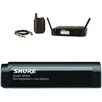 shure glxd14 digital guitar wireless system z2 with shure sb902 rechargeable