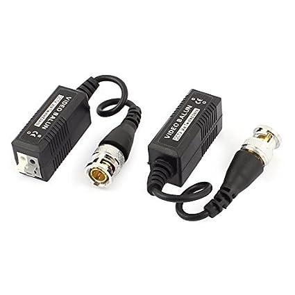 Cámara eDealMax CCTV BNC macho coleta Conector Balun video cable de la cuerda de 2 PC - - Amazon.com
