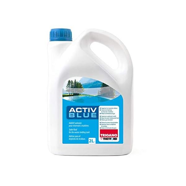 41wZuKt4ACL Set Thetford Activ Blue & Aktiv Rinse Toiletten Zusatz je 2 Liter, wahlweise mit Toilettenpapier (Blue + Rinse)