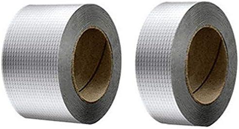 SNOWINSPRING Newly Aluminum Foil Butyl Rubber Tape Self Adhesive Waterproof for Roof Pipe Marine Repair-5Cm x 5M