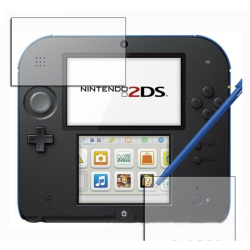 HDE 3 Pack of Upper & Lower Anti-Glare LCD Screen Protectors for Nintendo 2DS Game Console