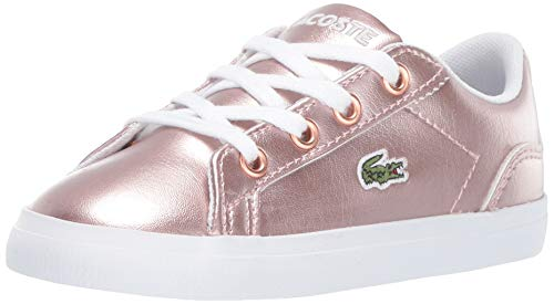 Lacoste Girls' Lerond Sneaker, Pink/White, 9. Medium US Toddler (Lacoste Baby Sneakers)