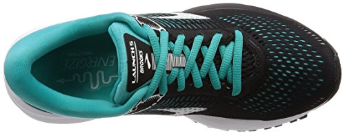 Brooks Launch 5, Scarpe da Running Donna Rosa (Black/Teal Green/White 1b003)