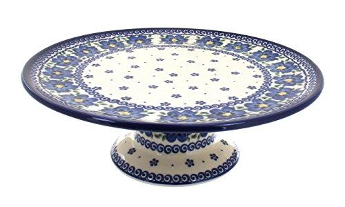 Polish Pottery Spring Blossom Pedestal Cake Plate