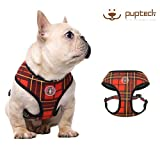 PUPTECK Mesh Dog Harness - No Pull Adjustable Harnesses - 3M Reflective Outdoor Vest for Easy Control for French Bulldog, Small