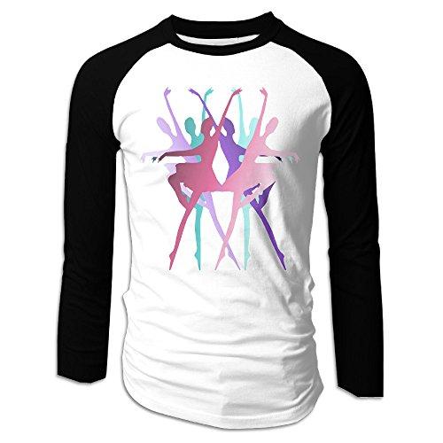 NONOS Mens Dancer's Beauty Long Sleeve Raglan Baseball Tshirt S