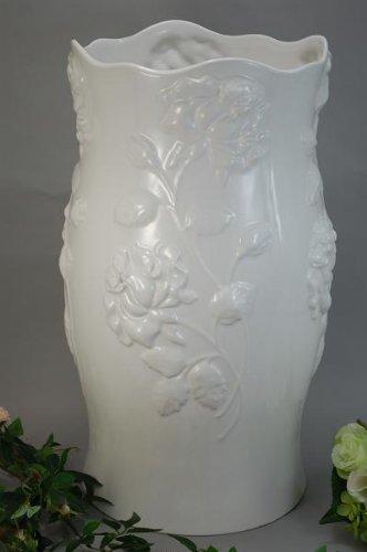 薔薇レリーフ 傘たて ホワイト (ローズ アンブレラスタンド ) B005MHMZ5O