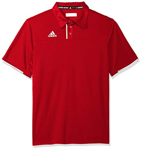 (Adidas Mens Climacool Utility Polo M Power Red-White)