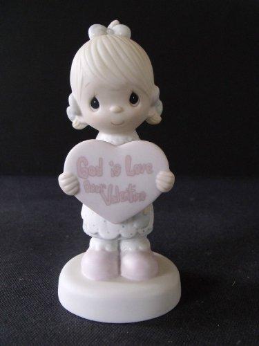 "Precious Moments ""God is Love, Dear Valentine"" Girl w/ Heart Figurine 6075969"