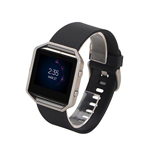 SCASTOE Replacement Rubber Wrist Band Strap Bracelet Watchband For Blaze Watch Black