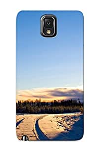 EdfxgjR4235ZQXDk Special Design Back Landscapes Nature Winter Roads Phone Case Cover For Galaxy Note 3