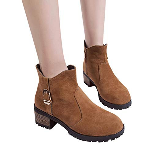 19fdba3141da Gyoume Women Boots Winter Ankle Boots Martens Zipper Boots Shoes Ladies  Mid-High Boots Shoes