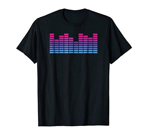 Bi Equalizer Stripe Relaxed T-Shirt (Led Graphic Sound Equalizer)