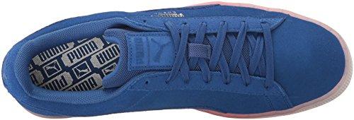 Puma Mens Classico Esplosiva Moda Sneaker Vero Plasma Camoscio Blu-brillante