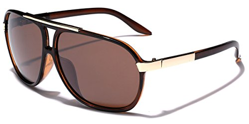 80s Mens Fashion (Classic 80s Fashion Aviator Sunglasses Retro Vintage Men's Women's Glasses (Brown, 62))
