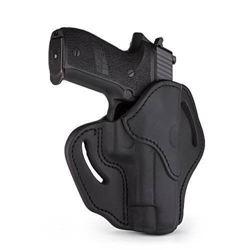 1791 GUNLEATHER Holster for Sig Sauer P226, P220, P229 Right Hand OWB Leather Gun Holster for Belts Also fits 1911 with Rails, H&K VP9 and Beretta 92FS (Stealth Black)
