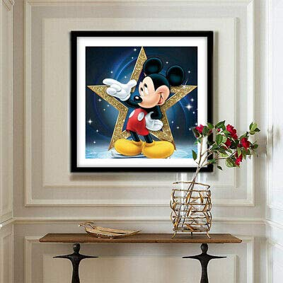 Full Drill 5D Diamond Painting Embroidery Cross Stitch Kits Mural Mickey Mouse 30X30CM